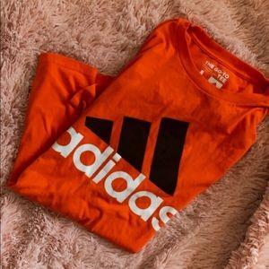 COPY - orange adidas shirt large logo